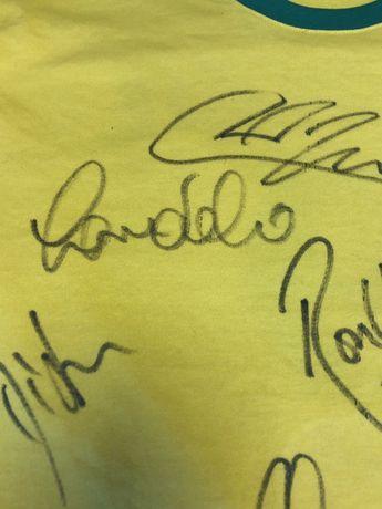 Koszulka Autograf Ronaldo Cafu Dida Robinho Milan Real Barcelona !!