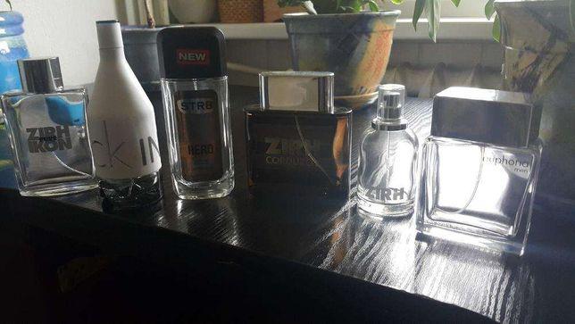 Puste flakony butelki po męskich perfumach