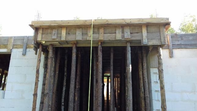 stemple 4,3mb stempel słupki kołki szalunek strop budowa drewno