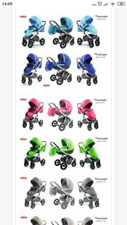 Wózek dla dziecka gondola+ spacerówka dla dziewczynki różowy fuksja