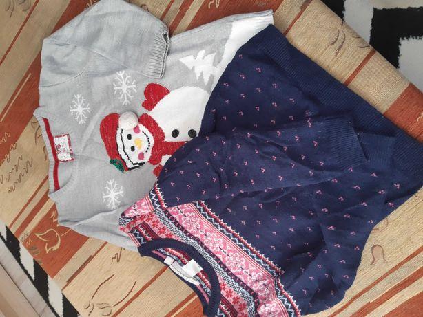 Zestaw sweterków dla dziewczynki