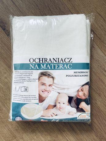 Ocharniacz na materac wodoodporny 160 x 200 biały