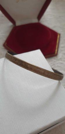 Srebrna bransoletka warmet Jubiler 68mm agmet Częstochowa