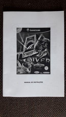 "Manual de instruções ""Universal Studios Theme Parks"" Nintendo Gamecube"