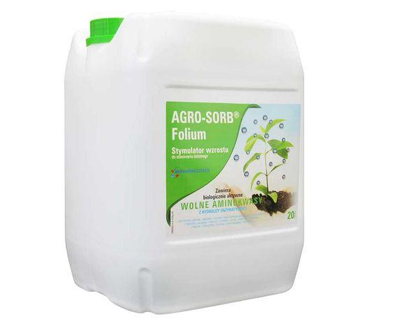 AGRO-SORB Folium 20l - Naturalne Aminokwasy do 50% Wzrostu Masy