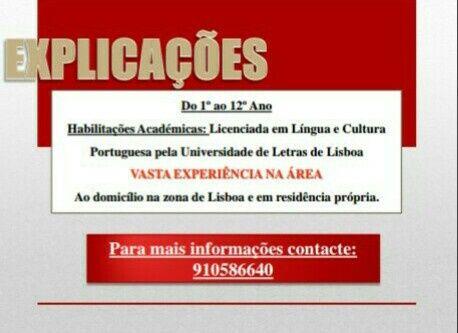 Explicações de português e português para estrangeiros