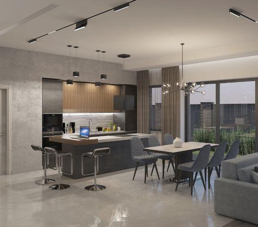Проекты домов, дизайн интерьеров, 3д визуализация. от 5$/кв м