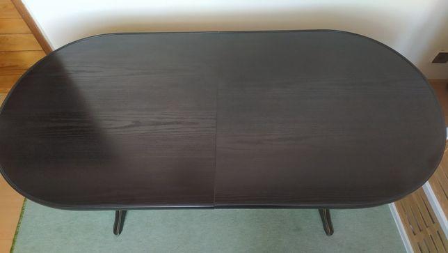 Stolik czarny drewniany