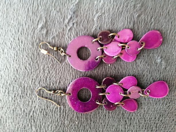 Kolczyki fioletowe