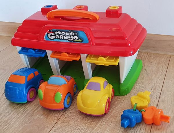 Garaz zabawka, auta, klucze