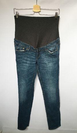 Spodnie H&M Mama Dzinsy Jeansy Slim L 40 Rurki Ciążowe Mamalicious Mom