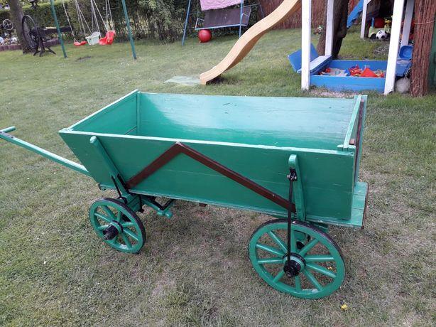 Wóz drewniany zabytkowy na ogród