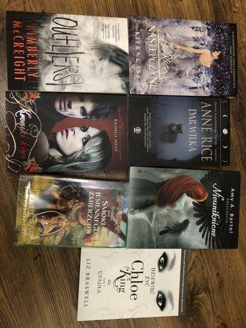 Książki outlersi, następczyni, kroniki krwi, smoki, wymiana na mangi
