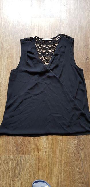 Czarna kopertowa bluzka