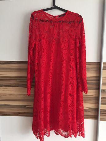 czerwona koronkowa sukienka roz. XL