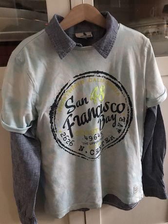 Kappahl t-shirt z aplikacja r.128