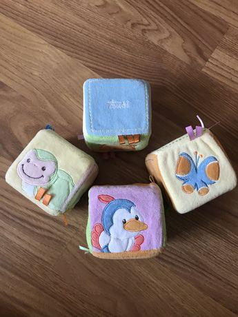 Кубики для самых маленьких тактильные