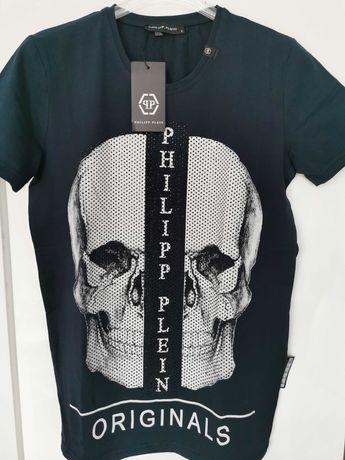 T-shirt męski Philipp Plein cyrkonie