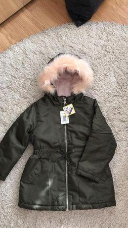 Куртка Парка новая 104-110р.Цвет хаки
