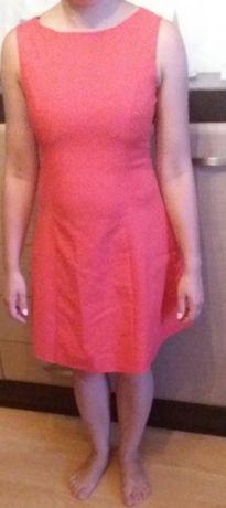 Koralowa sukienka Tiffi