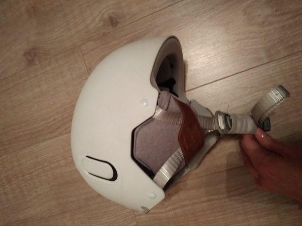 Kask narciarski dziecięcy biały 53-56 cm