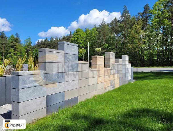 Bloczki ogrodzeniowe betonowe - pustak bloczek betonowy Royal 50x20x20