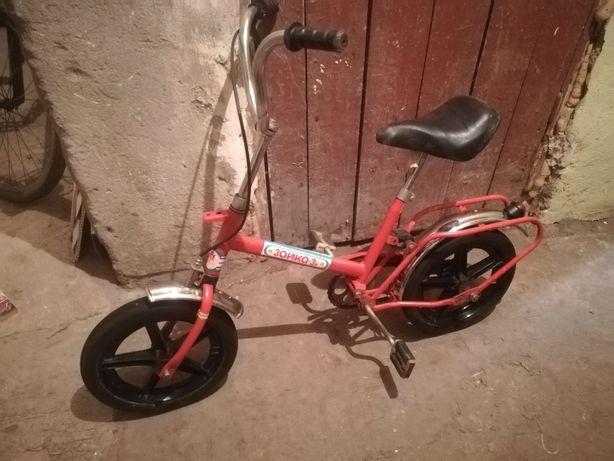 Детский велосипед ЗАЙКА - 3м эпохи СССР