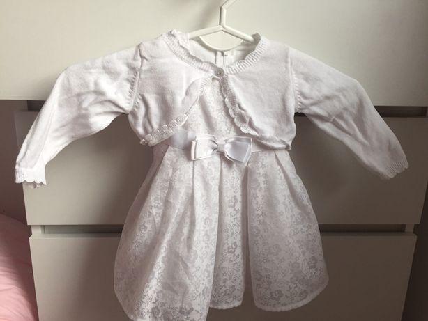 Ubranko sukienka zestaw na chrzest