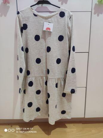 Nowa sukienka w grochy Cool Club smyk 128