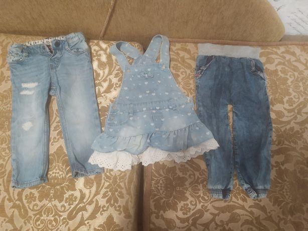 Джинсовий одяг для дівчинки ріст 92.