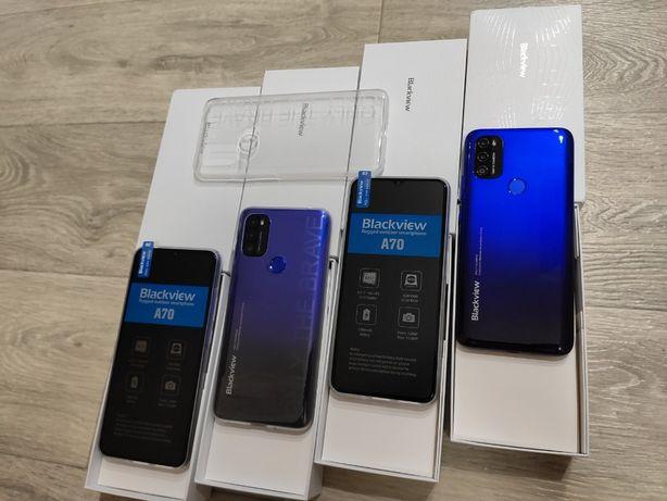 Смартфон Blackview A70 Blue Black 3/32Gb 5380mAh Android 11 + чехол