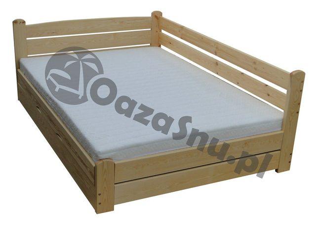 Łóżko tapczan z oparciem i skrzynią FORTECA 140x200 dowolny wymiar