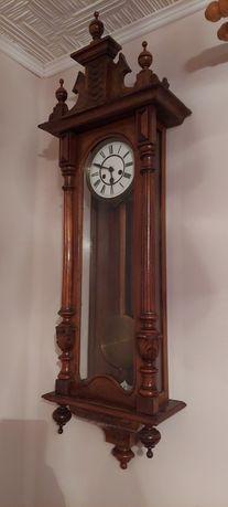 Zegar ścienny z wahadłem zabytek 1887 HAU