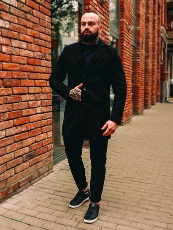 Акция! S M L XL Черное зимнее пальто теплое серое длинное плащ новое