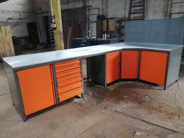 Stol warsztatowy narożny 350x180