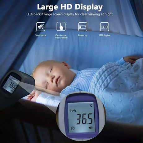 Бесконтактный инфракрасный термометр для тела  взрослых и детей
