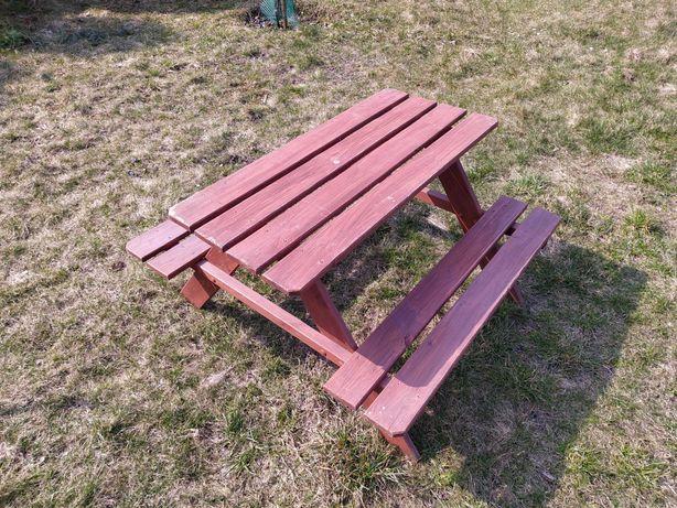 Stolik ławeczka dla dzieci na ogród