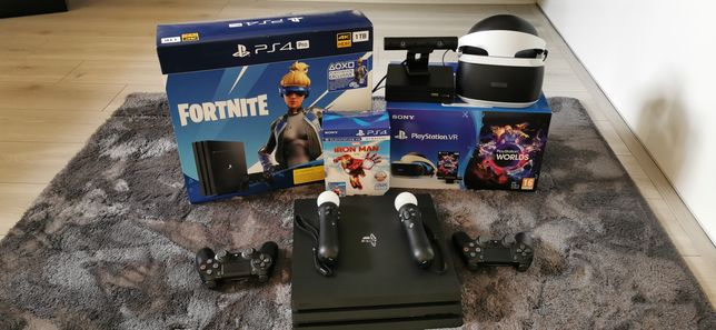 Ps4 pro 1tb 4k hdr + vr + ps move +gry