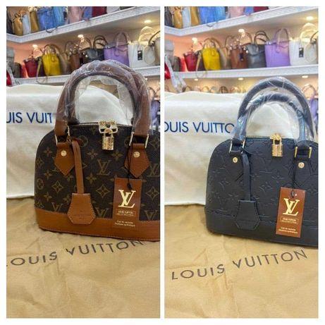 Сумка коричневая черная женская Louis Vuitton Сумочка Луи Витон