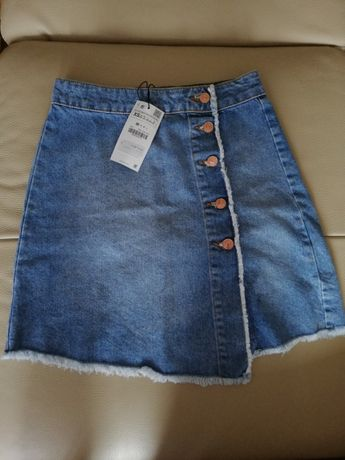 Nowa spódnica jeansowa Zara XS jak S