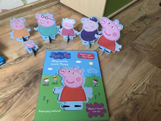 Książka świnka Peppa z figurkami. Wspaniały dzień Peppy.