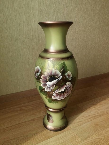 Ваза напольная керамическая, интерьерная, декоративная.