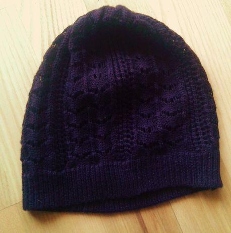 brązowa ażurowa czapeczka Reserved