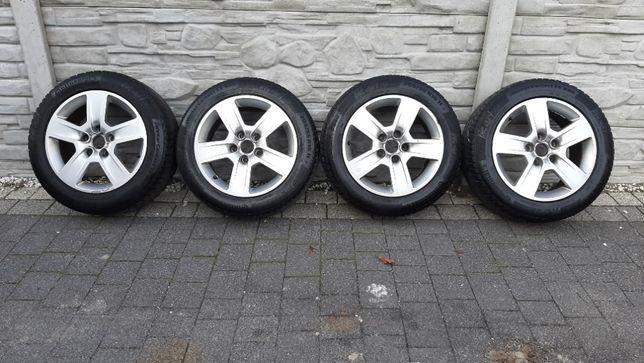AUDI VW SEAT Koła Alu Opony Continental 5x112 205/55/16R Zimowe 2017r