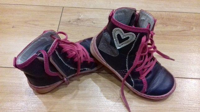 Skórzane buty jesienne/przejściowe rozm. 26