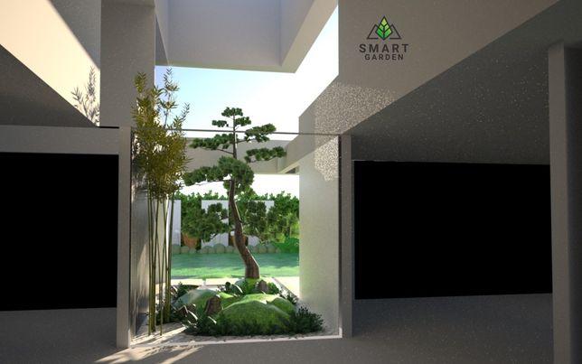 Projekty, zakładanie ogrodów, systemy nawadniające,Smart Garden