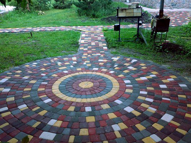 Укладка тротуарной плитки, Тротуарная плитка, Бордюры, Паребрики