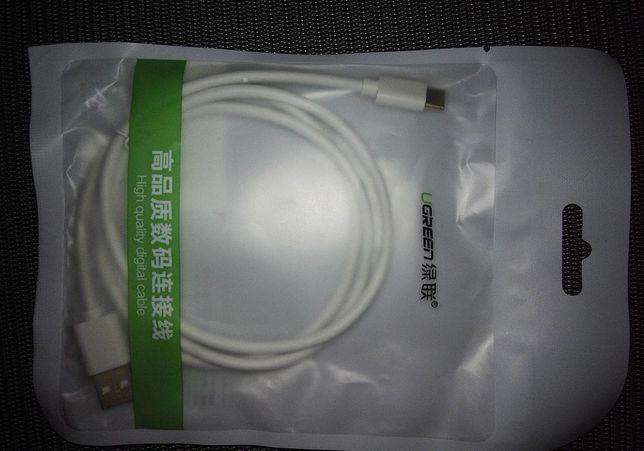 Качественный кабель для планшета UGREEN USB - micro-USB, 0.5м, 2,4 А