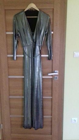 Sukienka wieczorowa srebrna