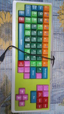 klawiatura do komputera duże klawisze kolorowa duże znaki